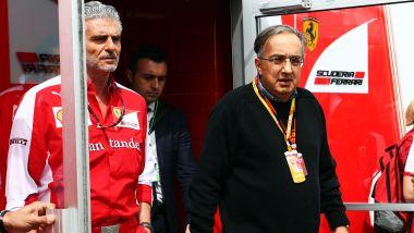 F1, Maurizio Arrivabene e Sergio Marchionne nel 2015