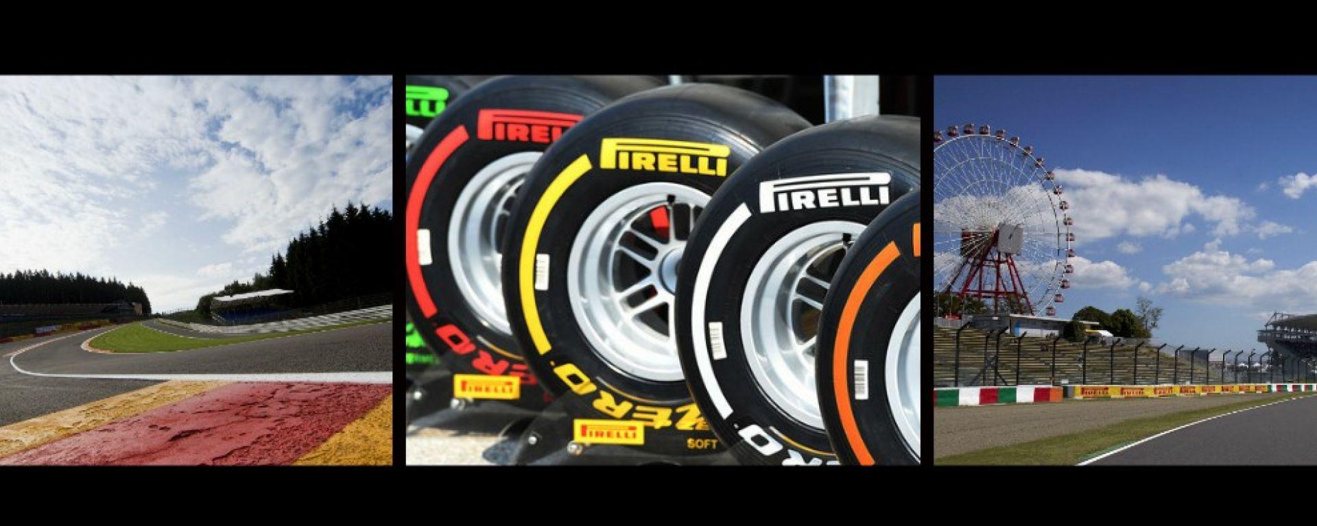 F1 GP Belgio e Giappone: annunciate le mescole Pirelli