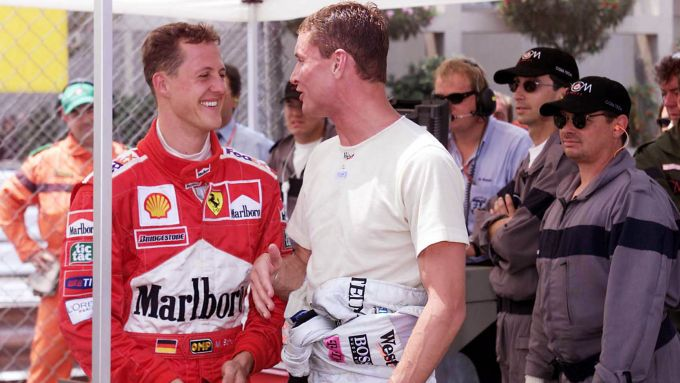 F1: Michael Schumacher (Ferrari) e David Coulthard (McLaren)