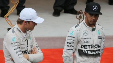 F1: Nico Rosberg e Lewis Hamilton (Mercedes) a Monte Carlo