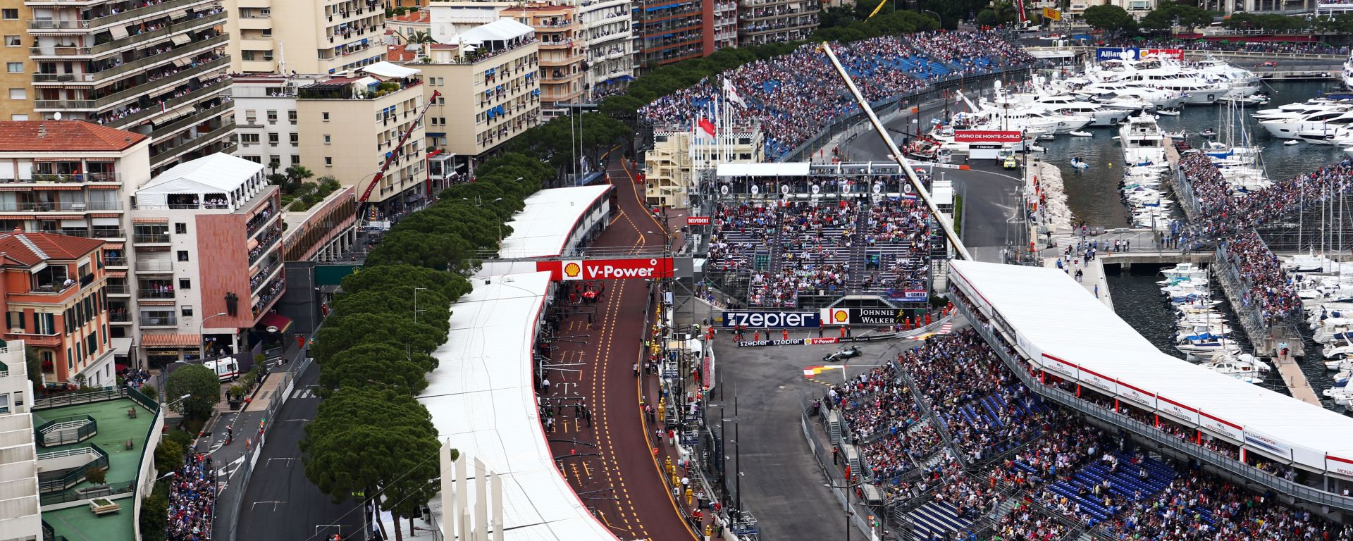 F1: panoramica del circuito di Monte Carlo, sede del GP Monaco