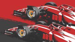 F1 Poster sorpasso Ferrari su Ferrari by Brembo