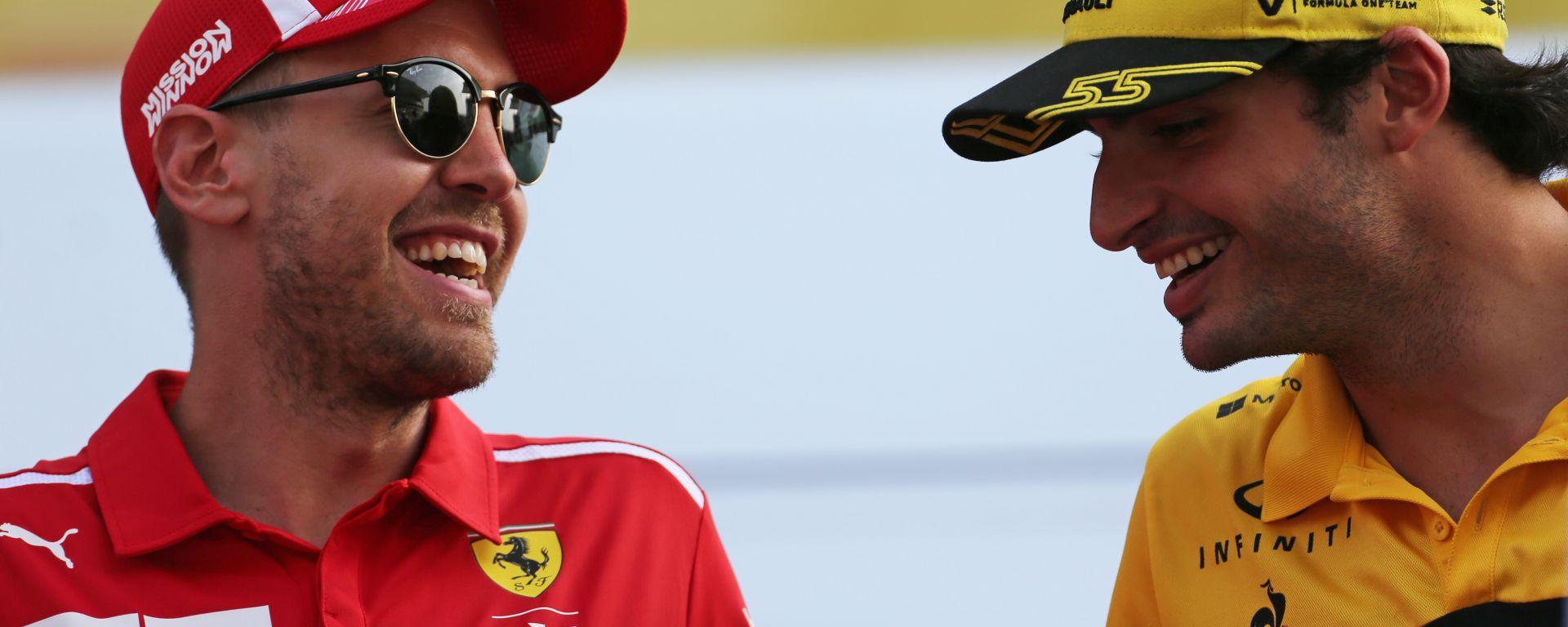 F1, presente e futuro della Ferrari: Sebastian Vettel e Carlos Sainz