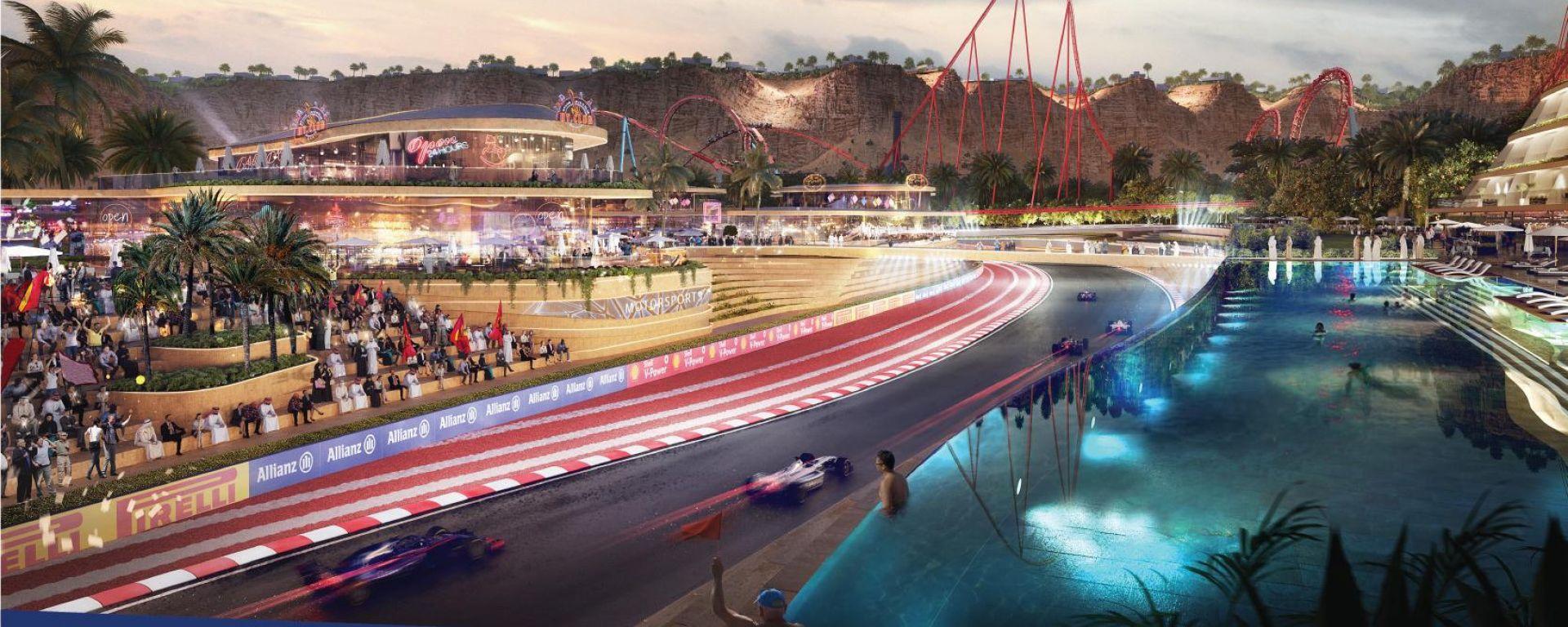 F1: rendering del circuito possibile sede del GP Arabia Saudita