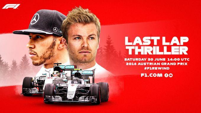 F1 Rewind, la locandina del GP Austria 2016 su YouTube