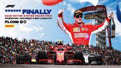 F1 Rewind: la locandina del GP Stati Uniti 2018 su Youtube dedicato al vincitore Kimi Raikkonen (Ferrari)