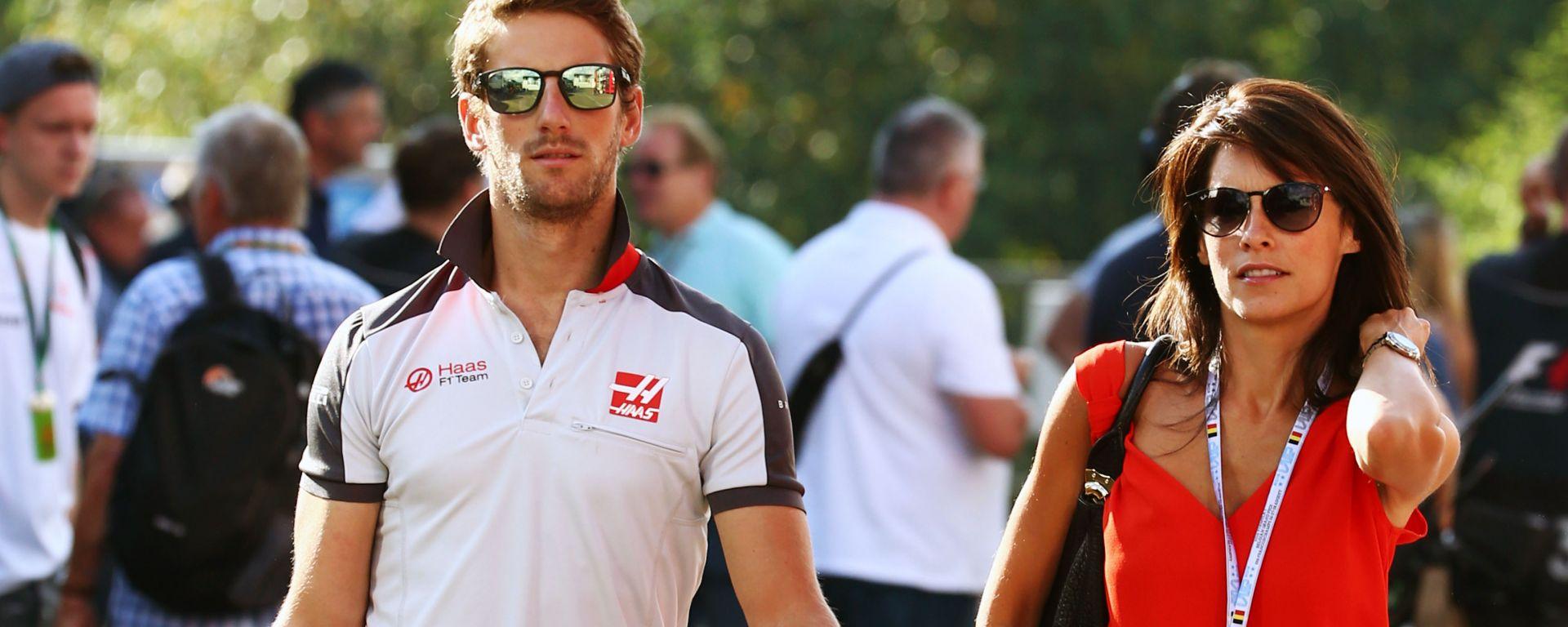 F1: Romain Grosjean con la moglie Marion