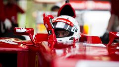 F1, Sebastian Vettel al volante della Ferrari F2012 a Fiorano nel novembre del 2014