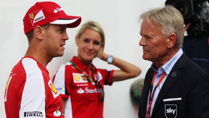 F1: Sebastian Vettel (Ferrari) con Marc Surer