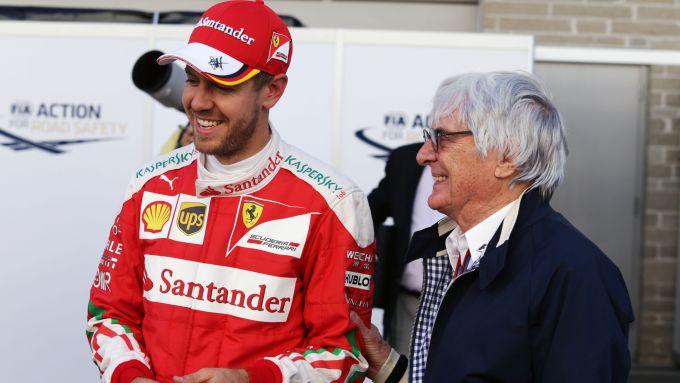 F1: Sebastian Vettel (Ferrari) e Bernie Ecclestone
