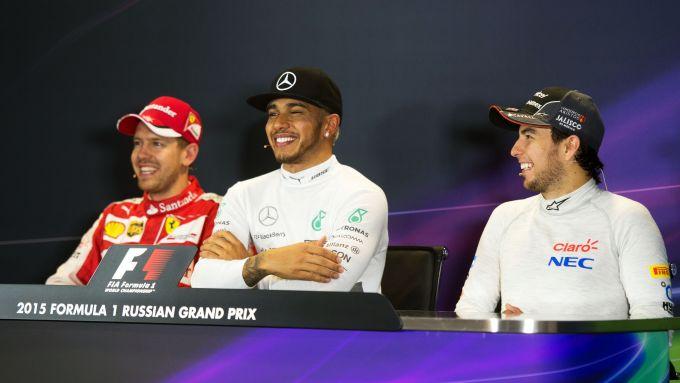 F1: Sebastian Vettel, Lewis Hamilton e Sergio Perez, i tre piloti con più gare disputate nell'ultimo decennio