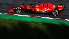 F1 Tes Barcellona 2020: Sebastian Vettel alla guida della Ferrari SF1000
