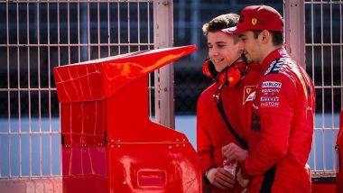 F1 Test 2020: Charles Leclerc (Ferrari) al muretto con il fratello Arthur | Foto: @Charles_Leclerc Instagram