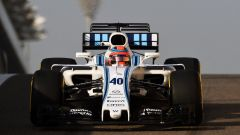 F1 Test Abu Dhabi 2017, la Williams di Robert Kubica