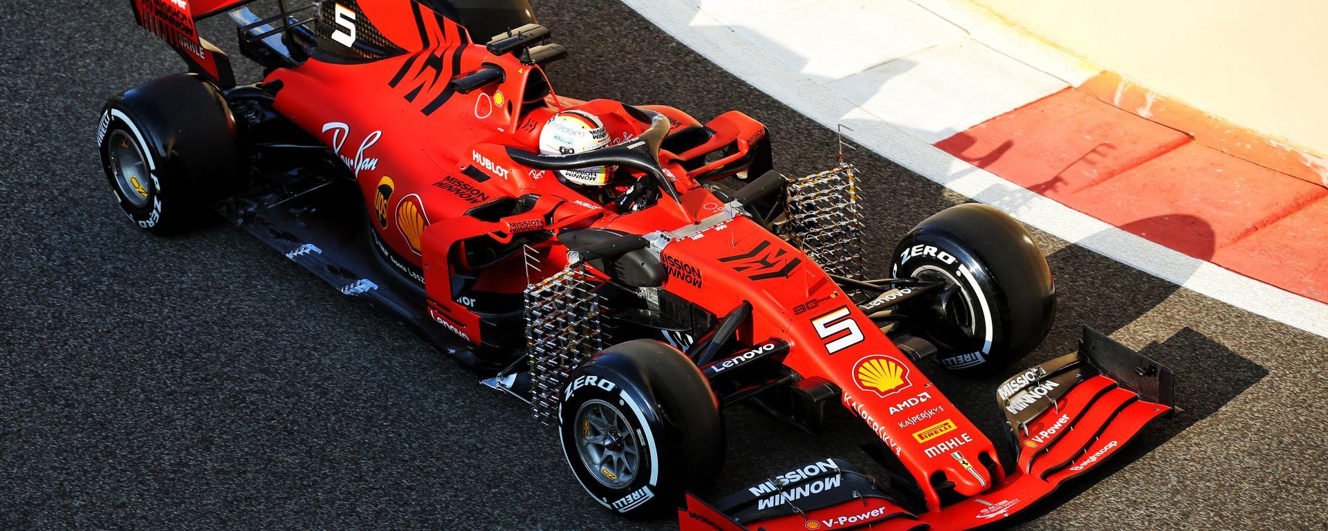 F1, test Abu Dhabi 2019: Sebastian Vettel (Ferrari)