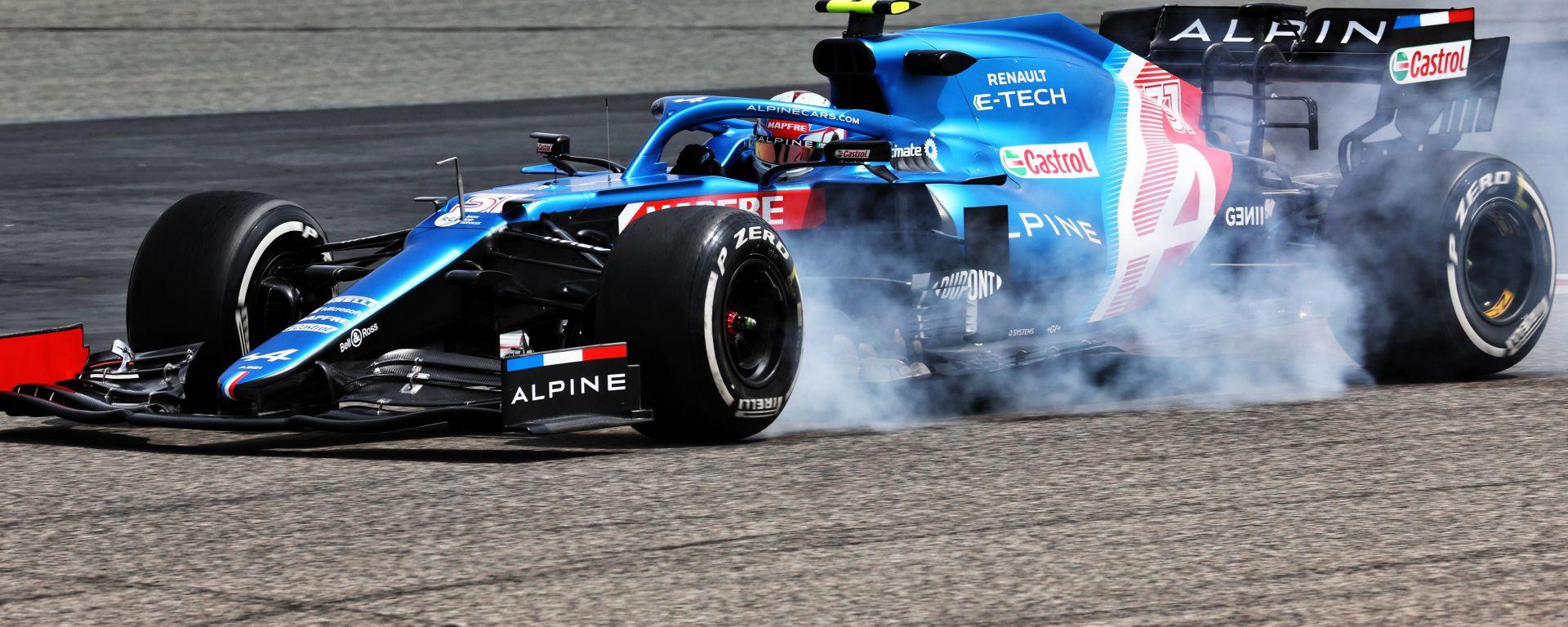 F1 Test Bahrain 2021, Sakhir: Esteban Ocon (Alpine-Renault)