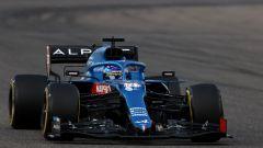 F1 Test Bahrain 2021, Sakhir: Fernando Alonso al volante dell'Alpine A521