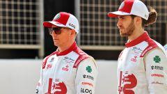 F1 Test Bahrain 2021, Sakhir: Kimi Raikkonen e Antonio Giovinazzi (Alfa Romeo Racing)