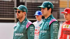 F1 Test Bahrain 2021, Sakhir: Sebastian Vettel e Lance Stroll (Aston Martin Racing)