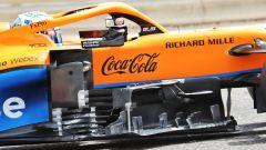 F1 Test Bahrain 2021, Sakhir: un dettaglio della McLaren MCL35M