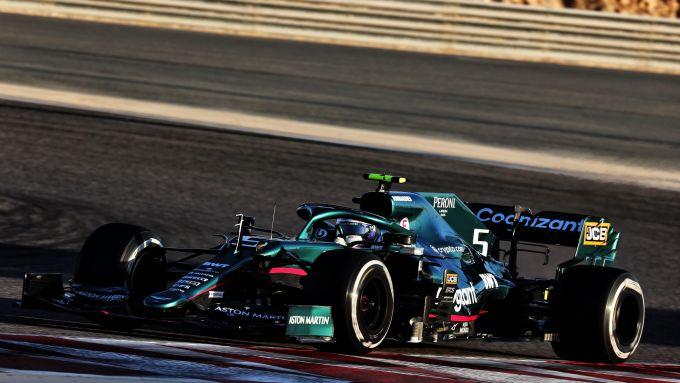 F1 Test Bahrain 2021, Sebastian Vettel (Aston Martin)