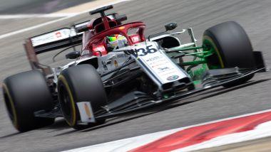F1 Test Bahrain, Mick Schumacher al volante dell'Alfa Romeo Racing C38