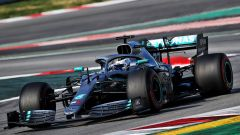 F1 Test Barcellona-2, Bottas in azione