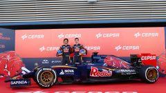 F1 Test Barcellona 2015: la presentazione della Toro Rosso con Carlos Sainz e Max Verstappen