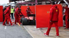 F1 Test Barcellona 2019, Ferrari, pannelli paravento