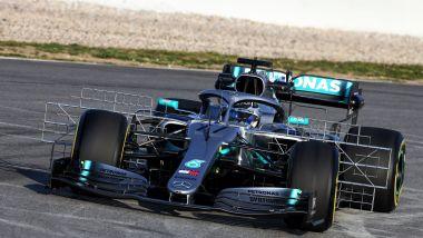 F1, test Barcellona 2019: Valtteri Bottas (Mercedes)