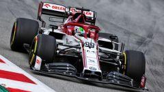 F1 Test Barcellona 2020: Antonio Giovinazzi alla guida dell'Alfa Romeo Racing C39