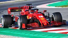 F1 Test Barcellona 2020: Charles Leclerc al volante della Ferrari SF1000