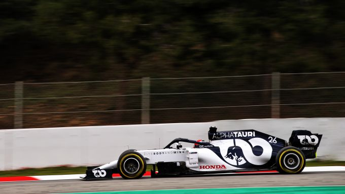 F1 Test Barcellona 2020: Daniil Kvyat alla guida della Alpha Tauri AT01