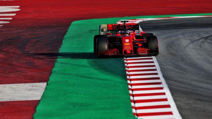 F1 Test Barcellona 2020, Day-2: Sebastian Vettel (Ferrari)