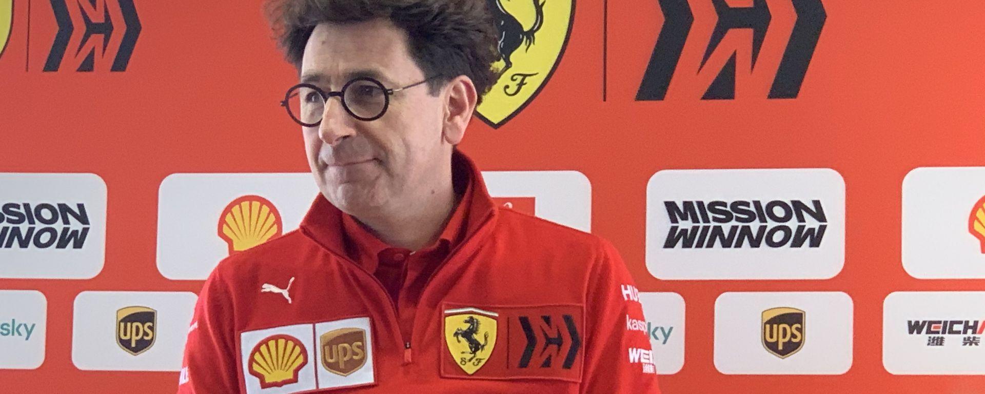 F1 Test Barcellona 2020, Day-3: il team principal della Ferrari, Mattia Binotto