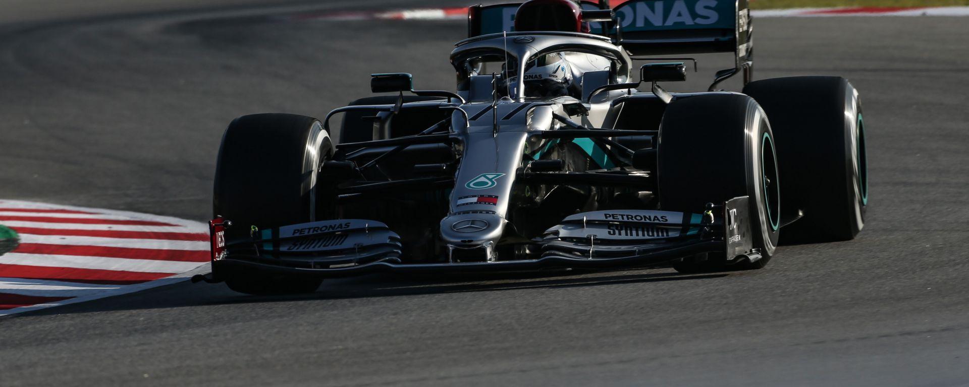 F1 Test Barcellona 2020, Day-3: Valtteri Bottas è stato il più veloce della prima sessione di test