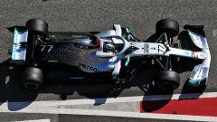 F1 Test Barcellona 2020, Day-3: Valtteri Bottas (Mercedes) in corsia dei box
