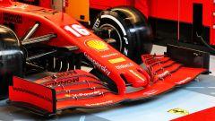 F1 Test Barcellona 2020: dettaglio dell'ala anteriore della Ferrari SF1000