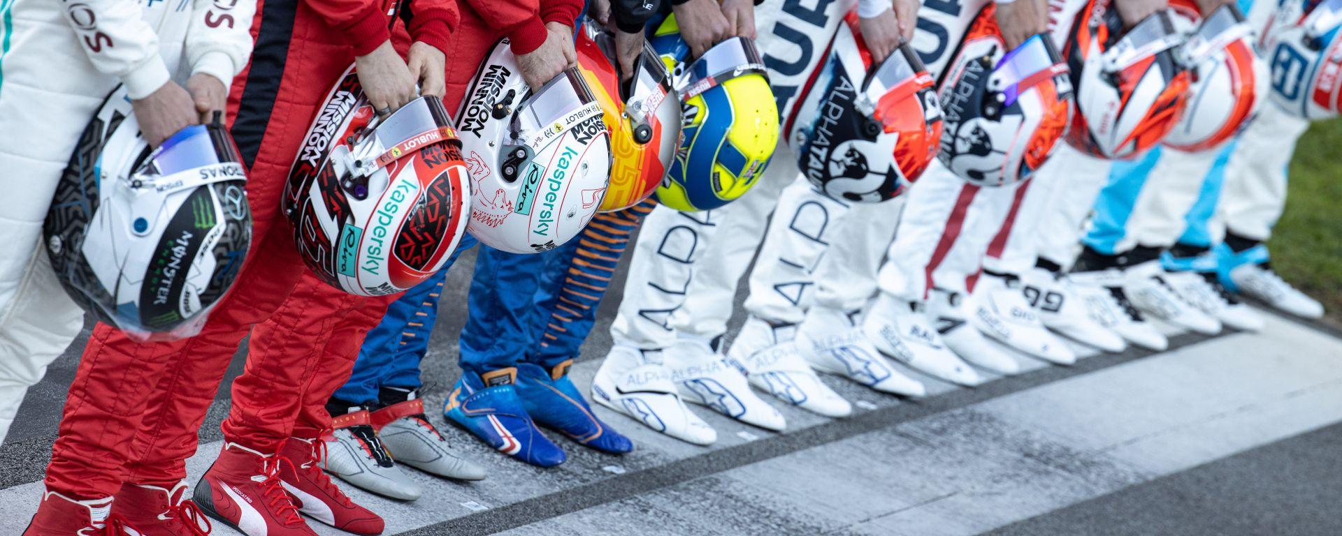 F1 Test Barcellona 2020: i nuovi caschi dei piloti di Formula 1