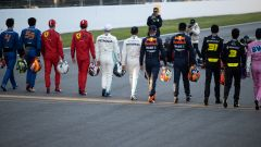 F1 Test Barcellona 2020: i piloti di Formula 1 sfilano per le foto di rito