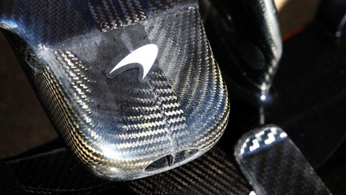 F1 Test Barcellona 2020: il logo McLaren sul musetto della MCL-35
