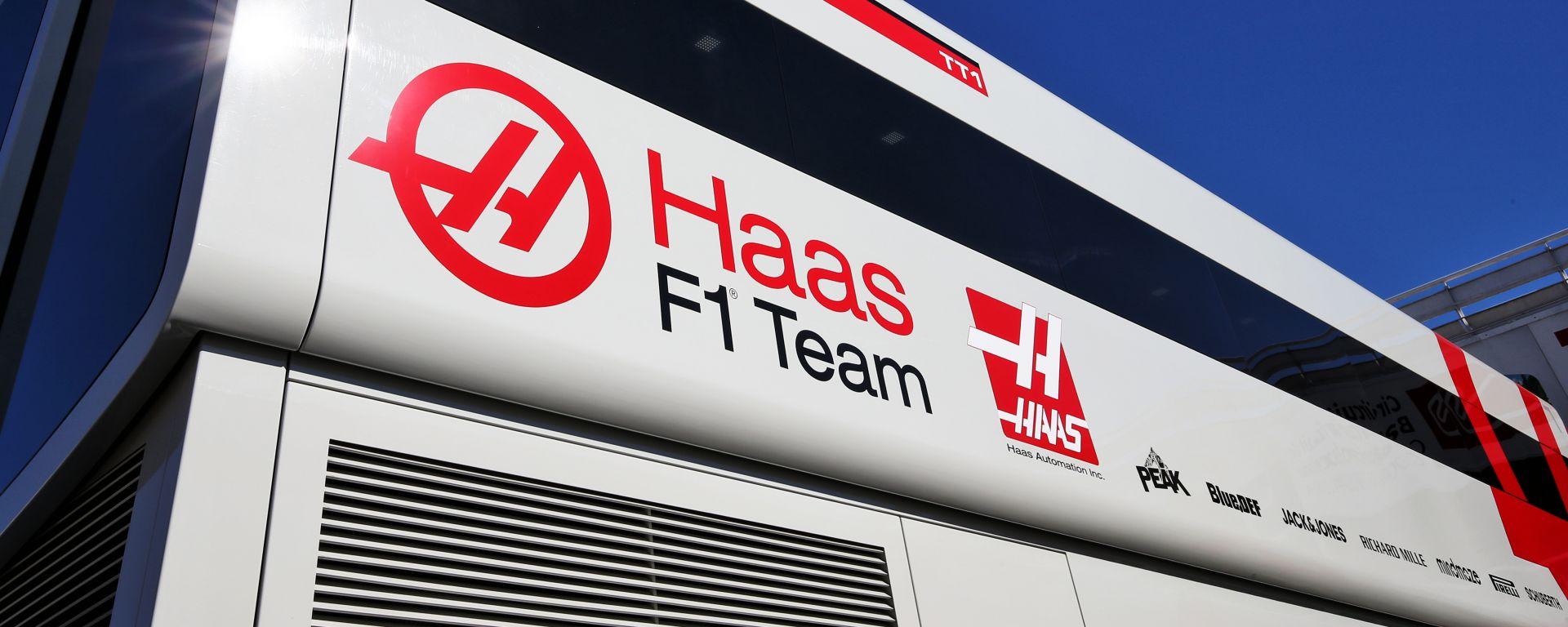 F1 Test Barcellona 2020: il motorhome della Haas