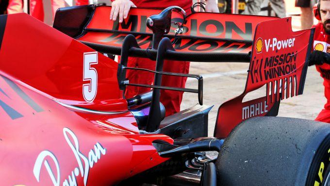 F1 Test Barcellona 2020: il retrotreno della Ferrari SF1000