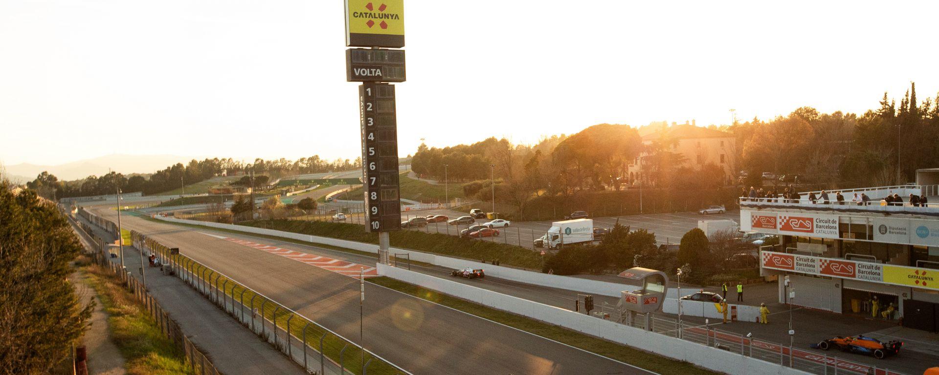 F1 Test Barcellona 2020, il tramonto sul Circuit de Catalunya