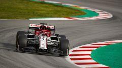 F1 Test Barcellona 2020, Kimi Raikkonen (Alfa Romeo Racing) alla guida della sua C39