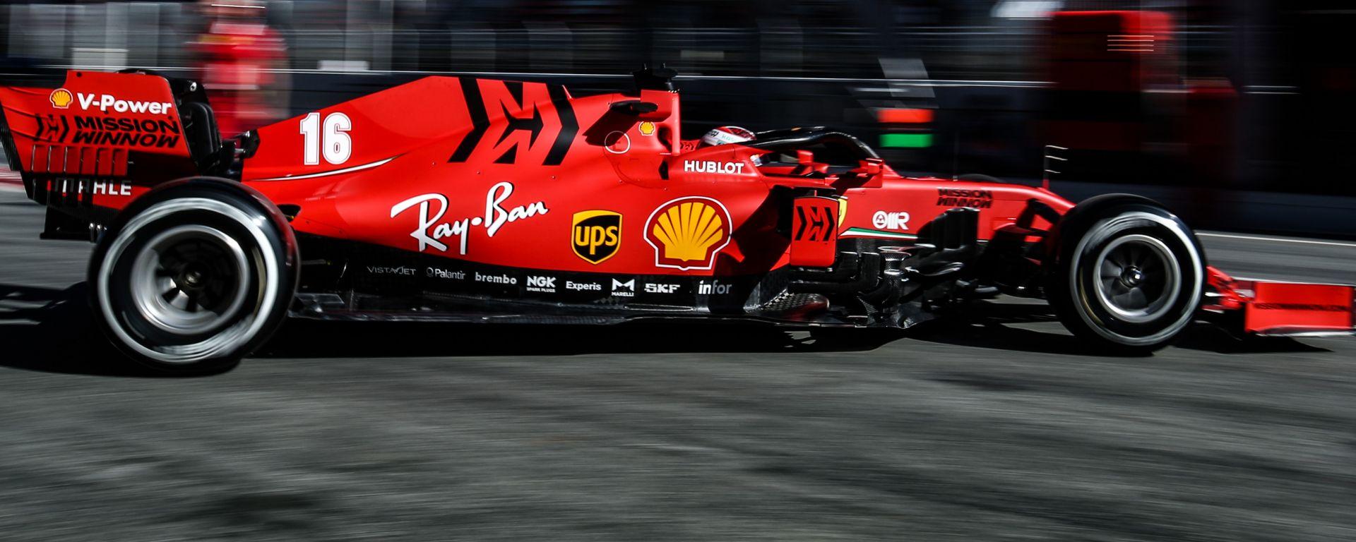 F1 Test Barcellona 2020, la Ferrari SF1000 di Charles Leclerc