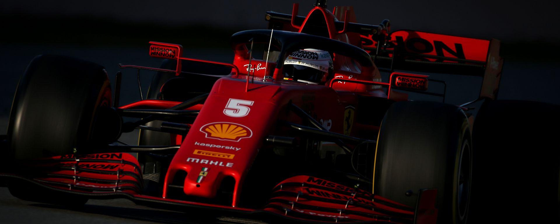 F1 Test Barcellona 2020: la Ferrari SF1000 di Sebastian Vettel