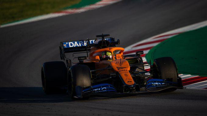 F1 Test Barcellona 2020: Lando Norris al volante della McLaren MCL35