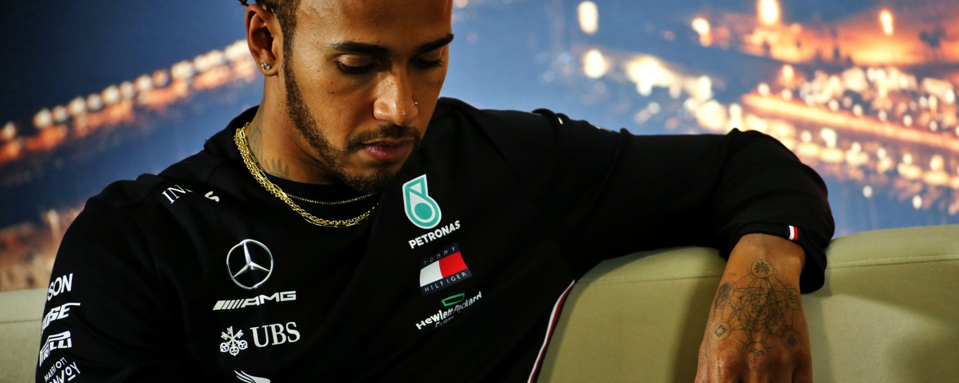 F1 Test Barcellona 2020: Lewis Hamilton (Mercedes) in conferenza stampa