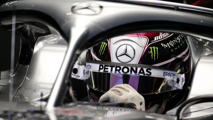 F1, test Barcellona 2020: Lewis Hamilton (Mercedes)